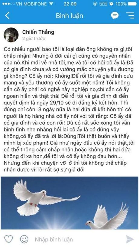 Danh hai Chien Thang noi su that ban gai da co chong - Anh 3