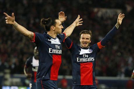 David Beckham nghi gi khi Ibrahimovic chuyen den M.U? - Anh 1