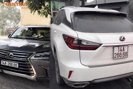 Bo doi xe sang Lexus o Quang Ninh dung chung bien 6666 - Anh 1