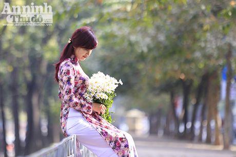 Say long hinh anh thieu nu Ha Thanh diu dang ben cuc hoa mi - Anh 2