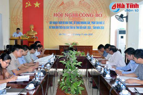 Cong bo quy hoach khai thac khoang san nho le tren dia ban Ha Tinh - Anh 1