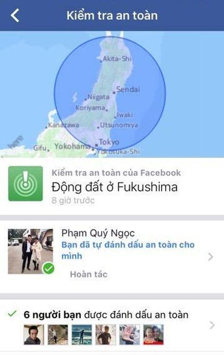 Nhieu nguoi Viet o Nhat Ban len Facebook danh dau minh an toan trong dong dat - Anh 1