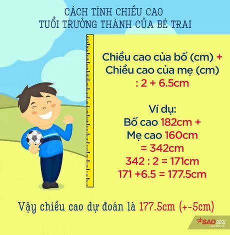 Cach tinh de khong tuong de biet chieu cao cua con ban trong tuong lai - Anh 1
