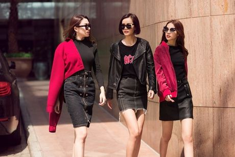 Phuong Anh - Le Ha - Kim Chi: Ai dep hon voi street style thu dong tren pho? - Anh 2