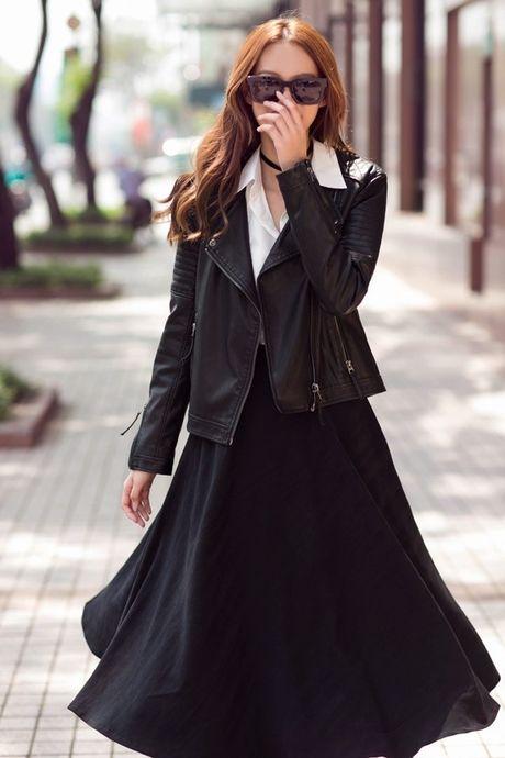 Phuong Anh - Le Ha - Kim Chi: Ai dep hon voi street style thu dong tren pho? - Anh 7