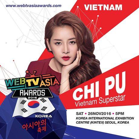 Chi Pu tiep tuc sang Han Quoc du le trao giai WebTV Asia Awards 2016 - Anh 2
