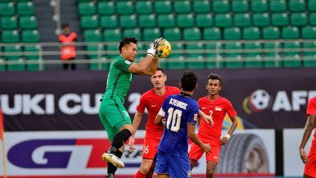 Thang Singapore 1-0, Thai Lan doat ve ban ket dau tien - Anh 1