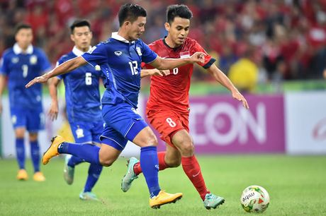 Thang Singapore 1-0, Thai Lan doat ve ban ket dau tien - Anh 2