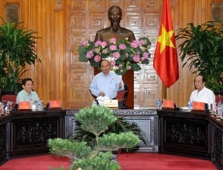 Thu tuong Nguyen Xuan Phuc lam viec voi lanh dao chu chot tinh Soc Trang - Anh 1