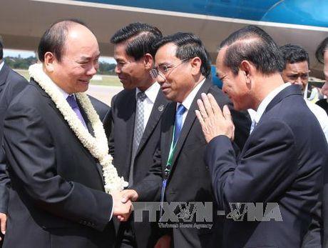 Thu tuong toi Campuchia du Hoi nghi CLV 9 - Anh 1