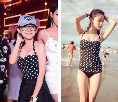 Ao tam cua Ngoc Trinh duoc Hoa Minzy mac ra duong - Anh 10