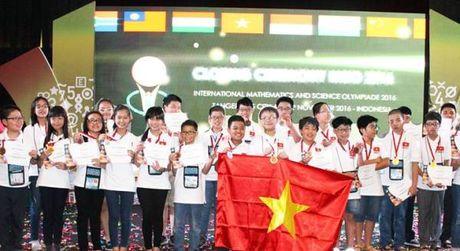 Hoc sinh Ha Noi dua tuyen Viet Nam dan dau Olympic Toan quoc te 2016 - Anh 1