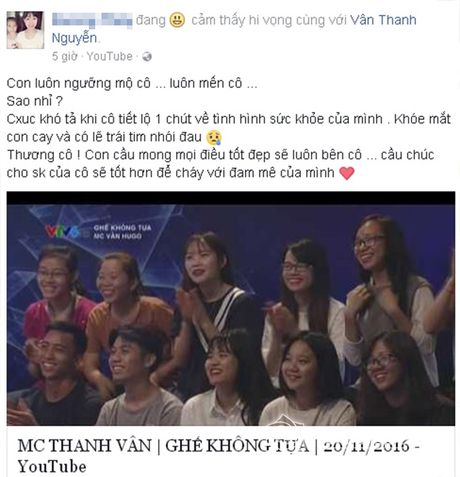 Sao Viet cung fans dong vien Van Hugo: Co len, dung bo cuoc, dung buong tay - Anh 6