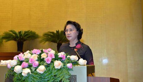 Phat bieu cua Chu tich Quoc hoi Nguyen Thi Kim Ngan be mac Ky hop thu 2 - Anh 1