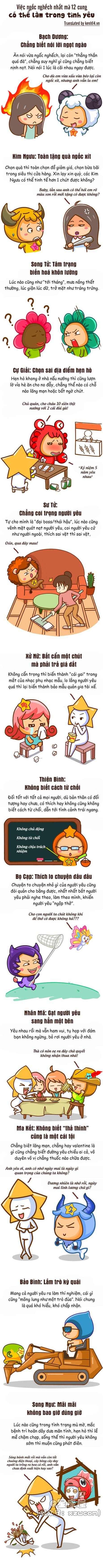 Khong ngo la tinh yeu co the khien 12 cung hanh dong ngoc nghech den muc nay! - Anh 1
