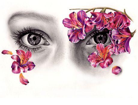Con mat thom truyen huong cho hoa giay - Anh 1