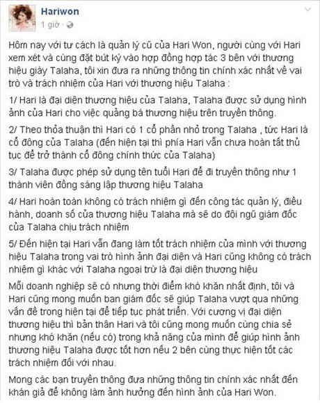 Quan ly khang dinh Hari Won khong lien quan vu quyt luong nhan vien - Anh 2