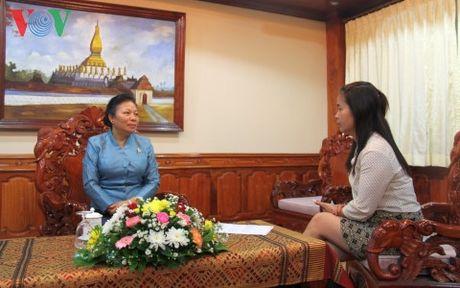 Lao danh gia cao chuyen tham cua Tong Bi thu Viet Nam den Lao - Anh 1