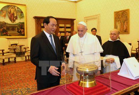 Chu tich nuoc Tran Dai Quang tiep kien Giao hoang Francis - Anh 4