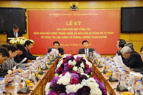 Ban Noi chinh Trung uong va Bo Tu phap ky Quy che phoi hop cong tac - Anh 4