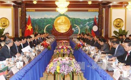 Tong Bi thu Nguyen Phu Trong hoi dam voi Tong Bi thu, Chu tich nuoc Lao - Anh 1