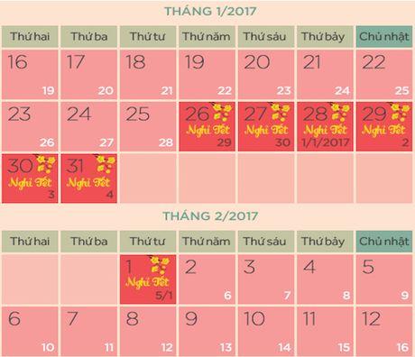 Chinh thuc co lich nghi Tet Dinh Dau 2017 - Anh 1