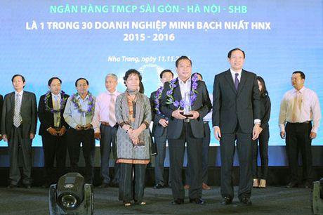SHB top 30 doanh nghiep minh bach nhat HNX - Anh 1