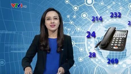 MC Hoai Anh vo tinh bat cuoi tren song Thoi su truc tiep - Anh 3
