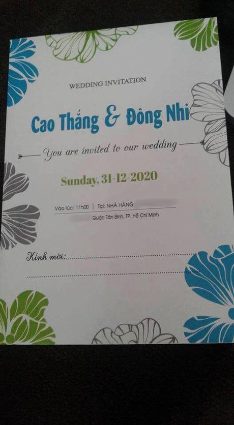 Thiep cuoi cua Dong Nhi va Ong Cao Thang la gia mao - Anh 2