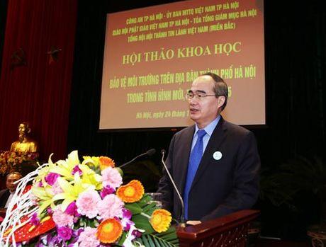 MTTQ va cac to chuc thanh vien truc tiep giam sat moi truong tai Ha Noi - Anh 1