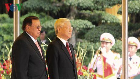 Tong bi thu Nguyen Phu Trong tham chinh thuc Lao - Anh 1