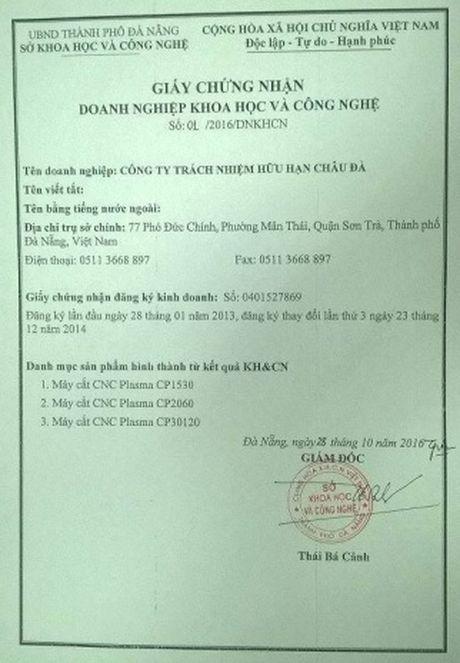 Da Nang co them mot doanh nghiep KH&CN - Anh 1