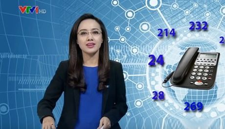 MC Hoai Anh vo tinh bat cuoi tren song Thoi su truc tiep - Anh 2