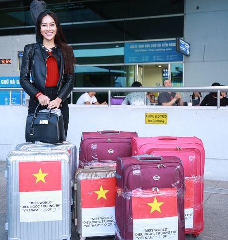 Hoa khoi Dieu Ngoc mang 100kg hanh ly di thi Miss World - Anh 7