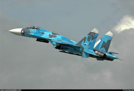 Qua ham the hien, phi cong Su-27 suyt tra gia dat - Anh 4