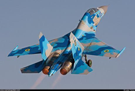 Qua ham the hien, phi cong Su-27 suyt tra gia dat - Anh 7