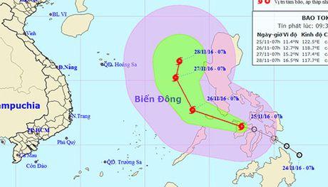 Bao Tokage dang manh len o Bien Dong - Anh 1