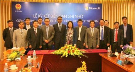 Bo Tai chinh va Microsoft tang cuong hop tac CNTT giai doan 2016 - 2020 - Anh 1
