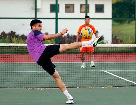 Xuan Truong, Ngoc Hai trinh dien ky thuat o san tennis - Anh 11