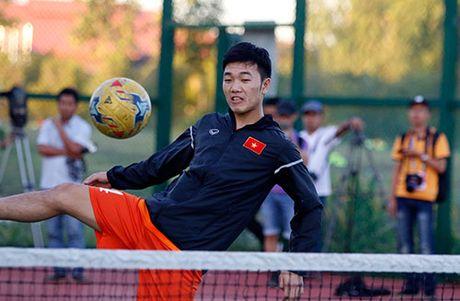 Xuan Truong, Ngoc Hai trinh dien ky thuat o san tennis - Anh 8