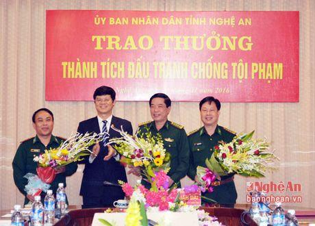 Nghe An: Trao thuong chuyen an bat 69 banh heroin tu Tam giac vang - Anh 1