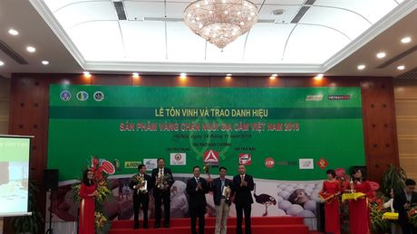'San pham Vang chan nuoi gia cam Viet Nam' vinh danh 32 san pham - Anh 1