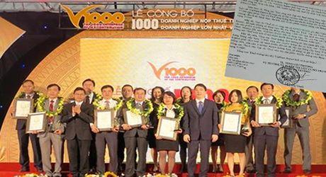 Tong Cuc Thue khang dinh khong lien quan den xep hang V1000 - Anh 1