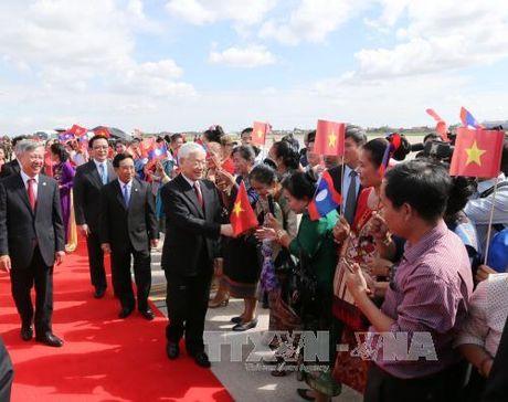 Tong Bi thu Nguyen Phu Trong tham tinh Bolikhamsai - Anh 1