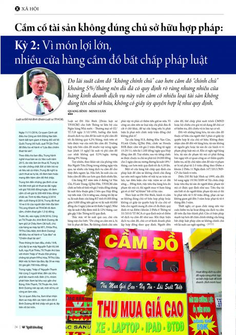 Cam co tai san khong dung chu so huu hop phap: Ky 2: Vi mon loi lon, nhieu cua hang cam do bat chap phap luat - Anh 3
