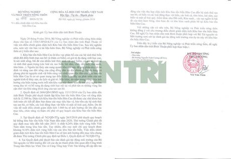 "Bo NN&PTNT khong dong y ""xen"" hon 1.000 ha khu bao ton bien Hon Cau - Anh 2"