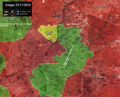Video chien su Aleppo: Quan doi Syria quet sach phien quan tai quan then chot - Anh 2
