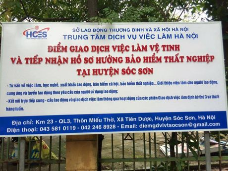 Phien giao dich viec lam cho lao dong BHTN tai huyen Soc Son - Anh 1
