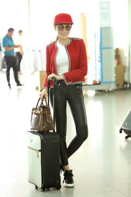 Ngoc Duyen - Le Ha len duong di Phap xem show Victoria's Secret - Anh 4