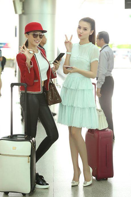 Ngoc Duyen - Le Ha len duong di Phap xem show Victoria's Secret - Anh 5